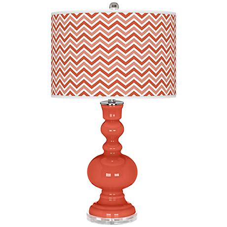Koi Narrow Zig Zag Apothecary Table Lamp