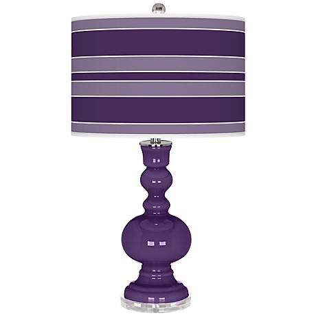Acai Bold Stripe Apothecary Table Lamp