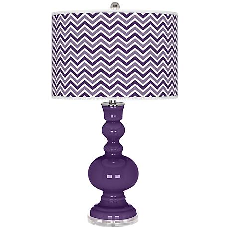 Acai Narrow Zig Zag Apothecary Table Lamp