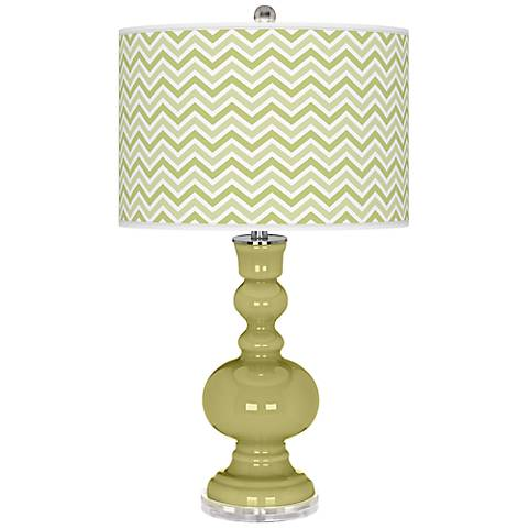 Linden Green Narrow Zig Zag Apothecary Table Lamp