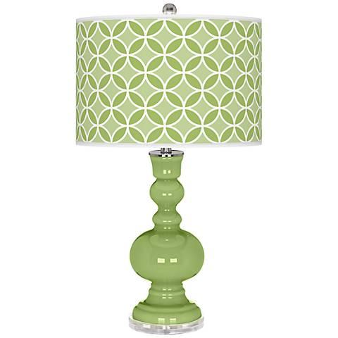 Lime Rickey Circle Rings Apothecary Table Lamp
