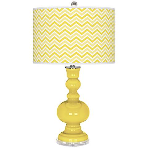 Lemon Twist Narrow Zig Zag Apothecary Table Lamp