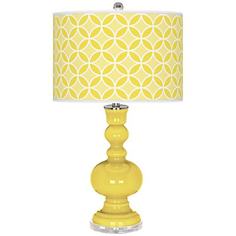 Lemon Twist Circle Rings Apothecary Table Lamp