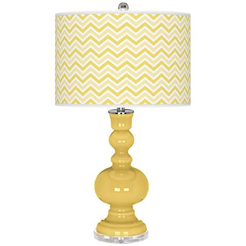 Daffodil Narrow Zig Zag Apothecary Table Lamp
