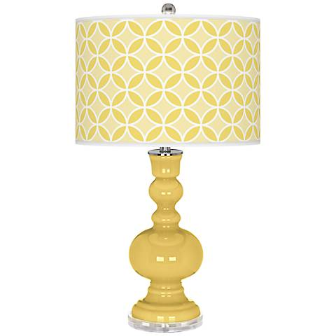 Daffodil Circle Rings Apothecary Table Lamp