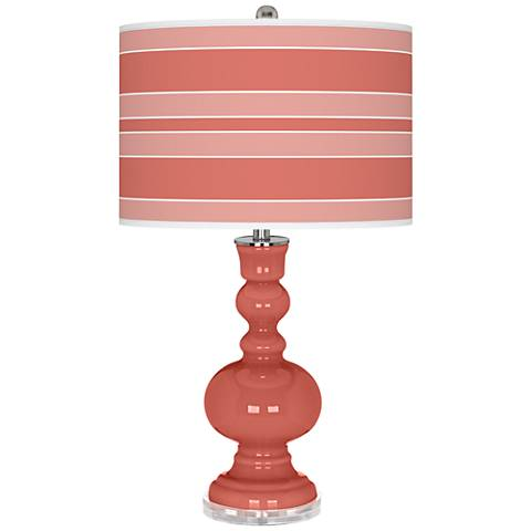 Coral Reef Bold Stripe Apothecary Table Lamp
