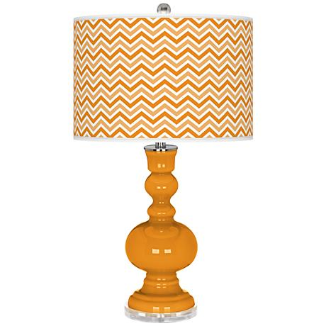 Carnival Narrow Zig Zag Apothecary Table Lamp