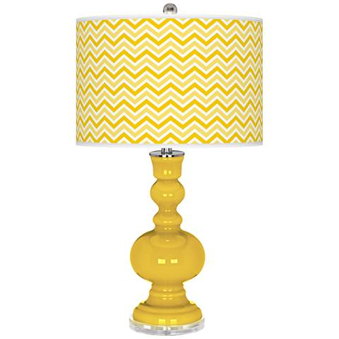 Citrus Narrow Zig Zag Apothecary Table Lamp
