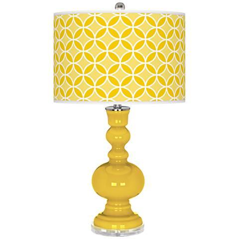 Citrus Circle Rings Apothecary Table Lamp