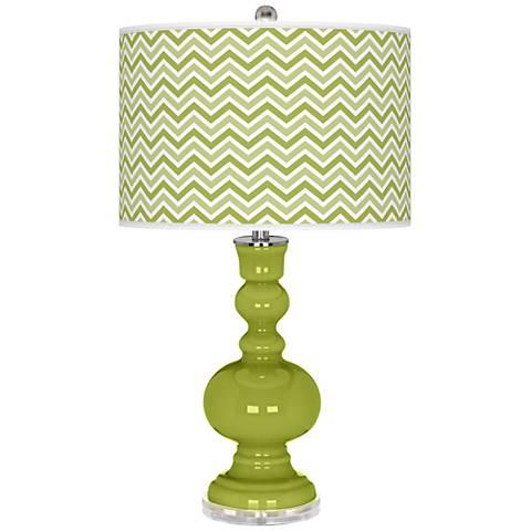Parakeet Narrow Zig Zag Apothecary Table Lamp