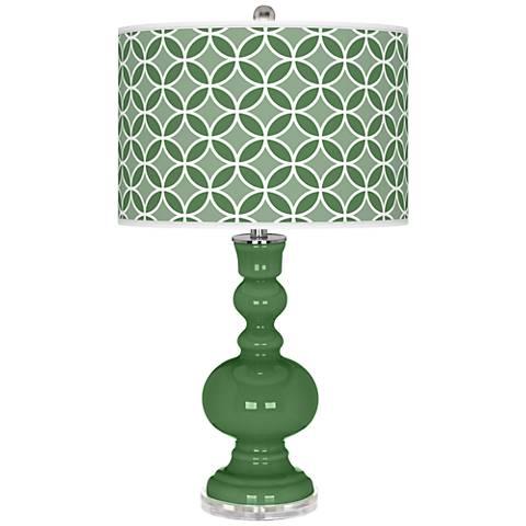 Garden Grove Circle Rings Apothecary Table Lamp