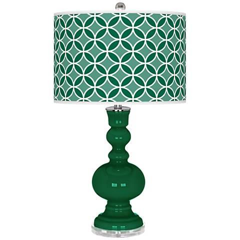 Greens Circle Rings Apothecary Table Lamp