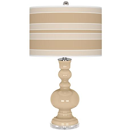 Colonial Tan Bold Stripe Apothecary Table Lamp