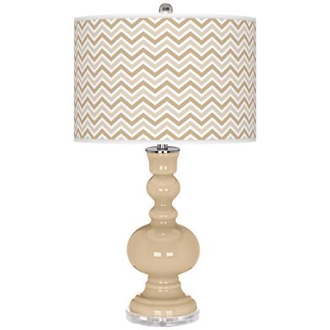 Colonial Tan Narrow Zig Zag Apothecary Table Lamp
