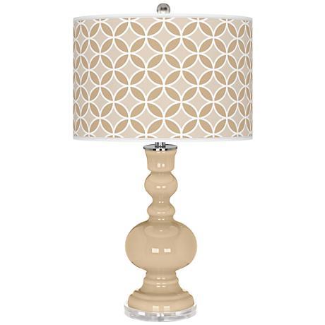 Colonial Tan Circle Rings Apothecary Table Lamp