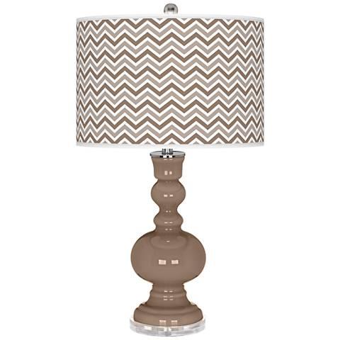 Mocha Narrow Zig Zag Apothecary Table Lamp