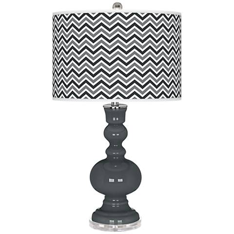 Black of Night Narrow Zig Zag Apothecary Table Lamp