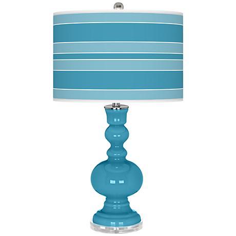 Jamaica Bay Bold Stripe Apothecary Table Lamp