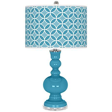 Jamaica Bay Circle Rings Apothecary Table Lamp