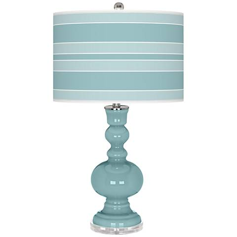 Raindrop Bold Stripe Apothecary Table Lamp