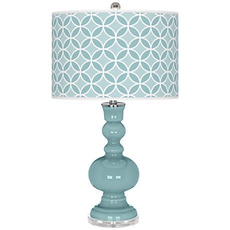 Raindrop Circle Rings Apothecary Table Lamp