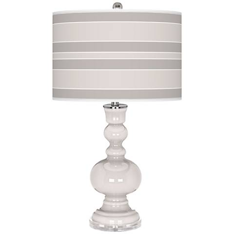 Smart White Bold Stripe Apothecary Table Lamp
