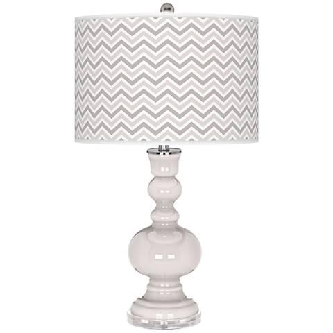 Smart White Narrow Zig Zag Apothecary Table Lamp