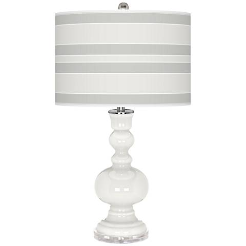 Winter White Bold Stripe Apothecary Table Lamp