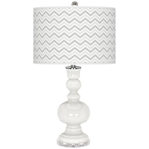 Winter White Narrow Zig Zag Apothecary Table Lamp