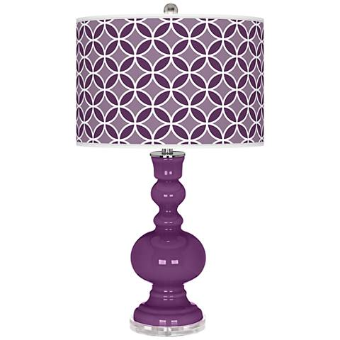 Kimono Violet Circle Rings Apothecary Table Lamp
