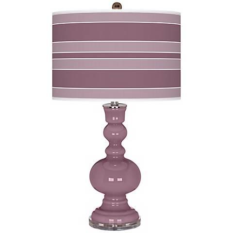 Plum Dandy Bold Stripe Apothecary Table Lamp