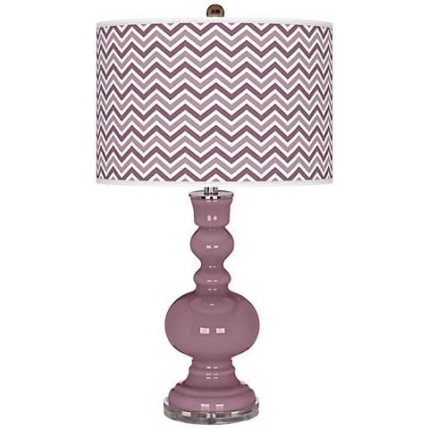 Plum Dandy Narrow Zig Zag Apothecary Table Lamp