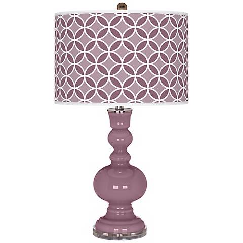 Plum Dandy Circle Rings Apothecary Table Lamp