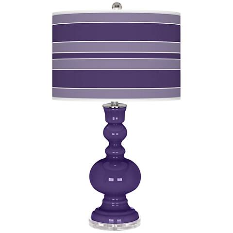 Izmir Purple Bold Stripe Apothecary Table Lamp