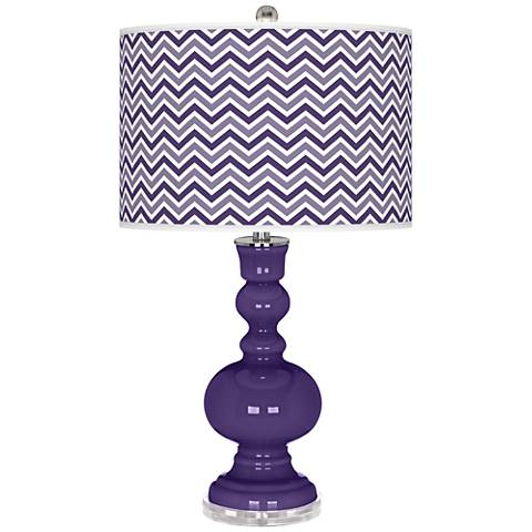 Izmir Purple Narrow Zig Zag Apothecary Table Lamp