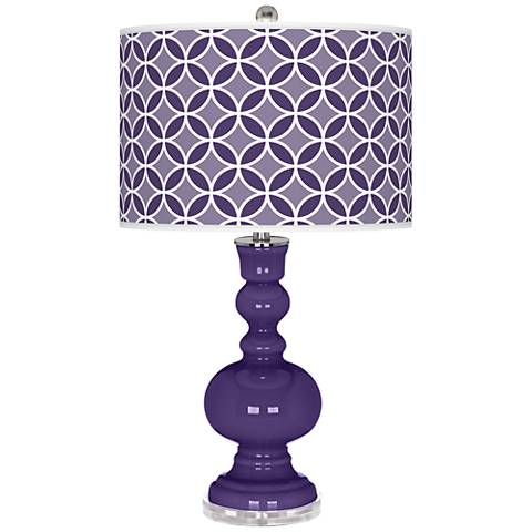 Izmir Purple Circle Rings Apothecary Table Lamp