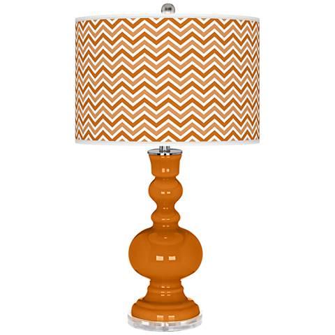 Cinnamon Spice Narrow Zig Zag Apothecary Table Lamp