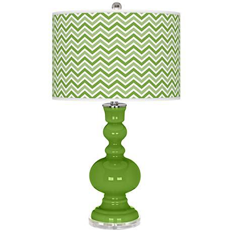 Rosemary Green Narrow Zig Zag Apothecary Table Lamp