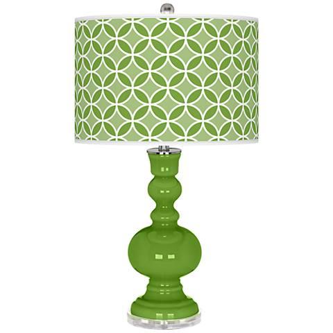 Rosemary Green Circle Rings Apothecary Table Lamp