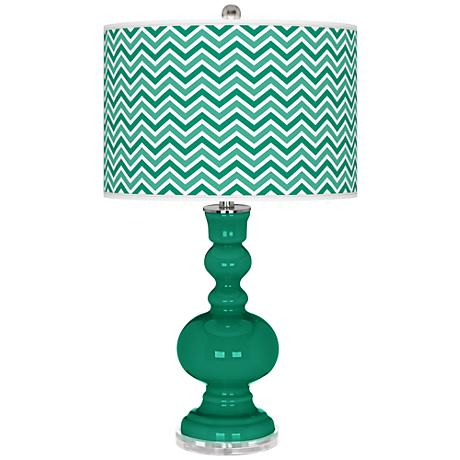 Leaf Narrow Zig Zag Apothecary Table Lamp
