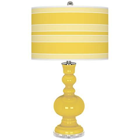Lemon Zest Bold Stripe Apothecary Table Lamp