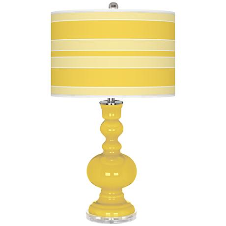 Lemon Zest Bold Stripe Apothecary Table Lamp
