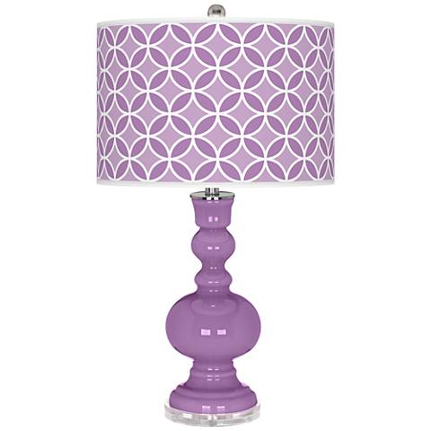 African Violet Circle Rings Apothecary Table Lamp