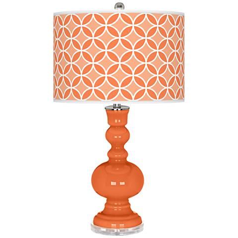 Nectarine Circle Rings Apothecary Table Lamp