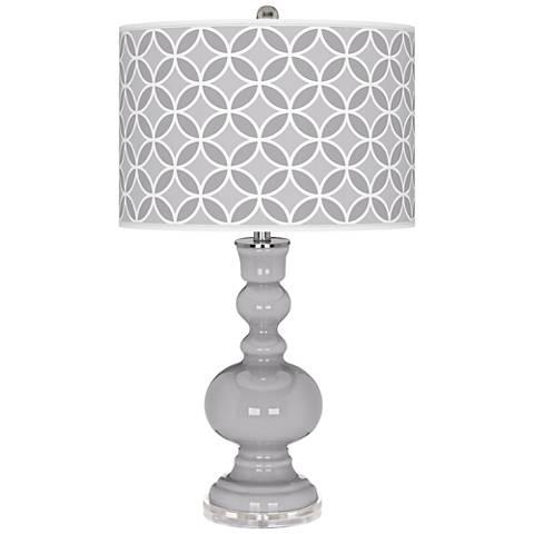 Swanky Gray Circle Rings Apothecary Table Lamp