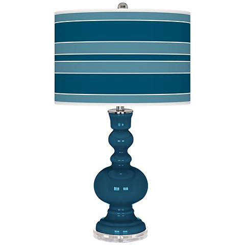 Oceanside Bold Stripe Apothecary Table Lamp