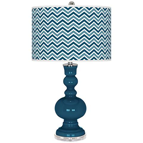 Oceanside Narrow Zig Zag Apothecary Table Lamp