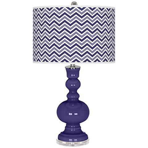Valiant Violet Narrow Zig Zag Apothecary Table Lamp