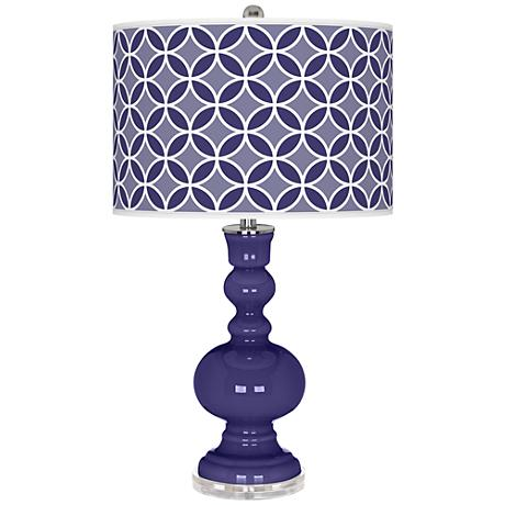 Valiant Violet Circle Rings Apothecary Table Lamp