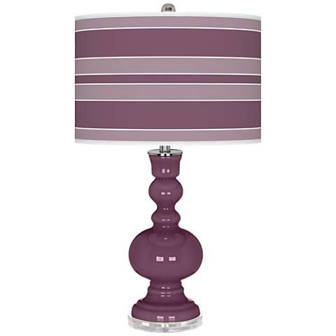 Grape Harvest Bold Stripe Apothecary Table Lamp